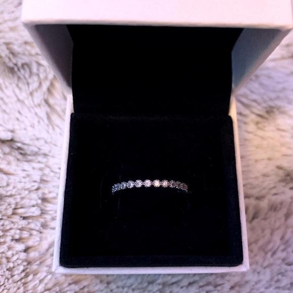 Eternity Gem Silver Ring